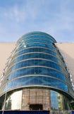 De bouw van de toekomst met moderne architectuur Stock Foto
