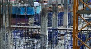 De bouw van de toren stock afbeelding