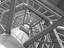 De bouw van de toren Stock Fotografie