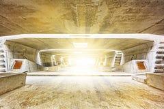 De bouw van de tunnelarchitectuur Royalty-vrije Stock Fotografie