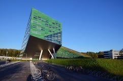 De bouw van de universiteit in Groningen Stock Foto's