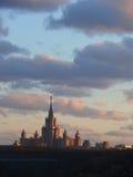 De bouw van de Universiteit van Moskou. Royalty-vrije Stock Fotografie