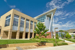 De bouw van de universiteitsschool campus de de bouwzomer Royalty-vrije Stock Afbeelding