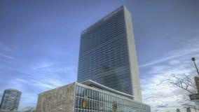 De Bouw van de Verenigde Naties stock footage