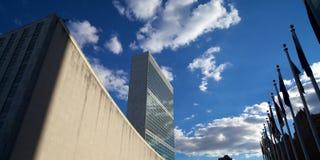De Bouw van de Verenigde Naties en de Algemene Vergadering Stock Foto's