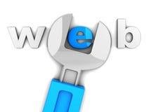 De bouw van de website Stock Afbeeldingen