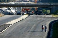 De bouw van de weg Royalty-vrije Stock Afbeeldingen
