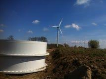 De bouw van de windturbine Royalty-vrije Stock Foto's