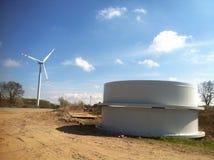 De bouw van de windturbine Stock Afbeelding