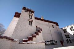De bouw van Drepung-Klooster Stock Foto's
