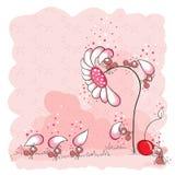 De bouw van een bloem - roze mieren Royalty-vrije Stock Afbeeldingen