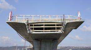 De bouw van een brug Royalty-vrije Stock Afbeelding