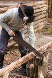 De bouw van een cabine stock afbeeldingen
