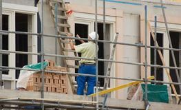 De bouw van een huis Royalty-vrije Stock Afbeelding