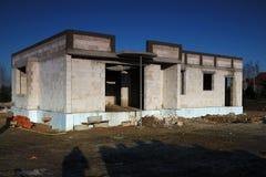 De bouw van een huis Stock Afbeelding