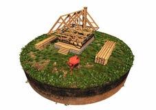 De bouw van een huis stock illustratie