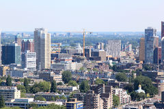 De bouw van een moderne stad, Rotterdam, Nederland Royalty-vrije Stock Foto