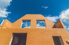 De bouw van een nieuw eigen huis Stock Foto's