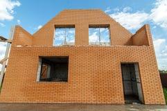 De bouw van een nieuw eigen huis Stock Afbeelding
