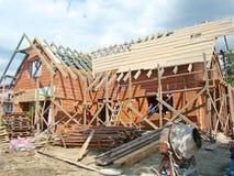 De bouw van een nieuw huis Royalty-vrije Stock Afbeeldingen
