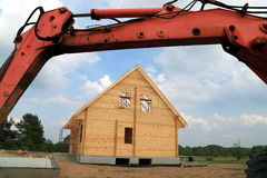 De bouw van een nieuw huis Stock Afbeeldingen