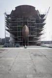 De bouw van een schip in de Werf van Gdansk Royalty-vrije Stock Afbeeldingen
