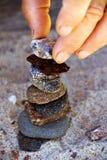 De bouw van een steentoren Royalty-vrije Stock Fotografie