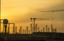 De bouw van een voetbalstadion 2018 Stock Fotografie