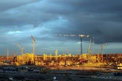 De bouw van een voetbalstadion in Kazan. Royalty-vrije Stock Foto's