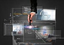 De bouw van een website Stock Afbeeldingen
