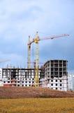 De bouw van een wolkenkrabber Stock Afbeelding