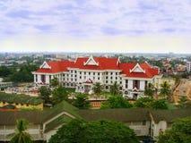 De bouw van eerste ministerOffice, Vientiane, Laos stock afbeeldingen