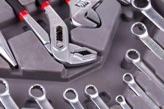 De bouw van en het meten van hulpmiddelen Stock Afbeelding