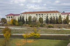 De bouw van de Faculteit van Economie van de Nationale Universiteit in Vilnius litouwen royalty-vrije stock afbeelding