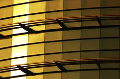 De bouw van glasgoud Stock Afbeelding
