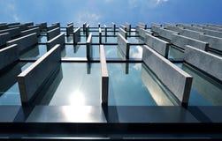 De bouw van het beton en van het glas Stock Fotografie