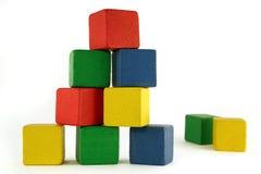 De bouw van het blok Stock Afbeelding