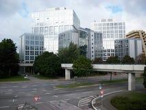 De bouw van het bureau in bedrijfsdistrict Royalty-vrije Stock Afbeelding