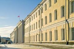 De bouw van het bureau in de stad van Nizhny Novgorod Royalty-vrije Stock Afbeeldingen