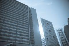 De bouw van het bureau in stad Royalty-vrije Stock Foto's