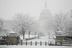 De Bouw van het Capitool, de winter, Washington, gelijkstroom, de V.S. Royalty-vrije Stock Foto