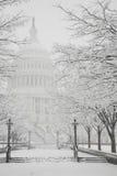 De Bouw van het Capitool, de winter, Washington, gelijkstroom, de V.S. Stock Foto