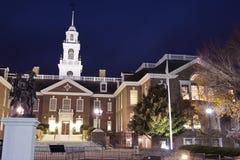 De Bouw van het Capitool in Dover, Delaware. stock afbeeldingen