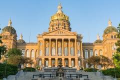 De Bouw van het Capitool van de Staat van Iowa stock foto's