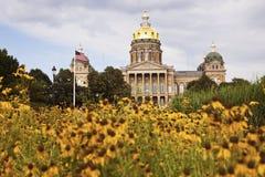 De Bouw van het Capitool van de staat in Des Moines stock fotografie