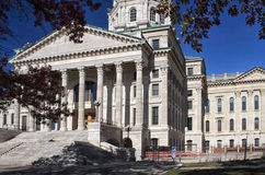 De Bouw van het Capitool van de Staat van Kansas Stock Foto