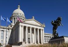 De Bouw van het Capitool van de Staat van Oklahoma Stock Foto