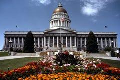 De Bouw van het Capitool van de Staat van Utah Stock Foto