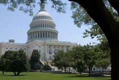 De Bouw van het Capitool van de V.S. stock afbeeldingen