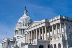 De Bouw van het Capitool van de V.S. in Washington DC Stock Afbeeldingen
